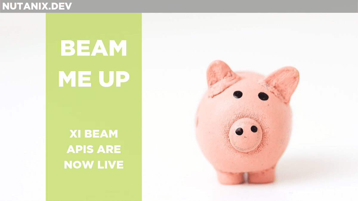 BEAM ME UP - Xi Beam APIs