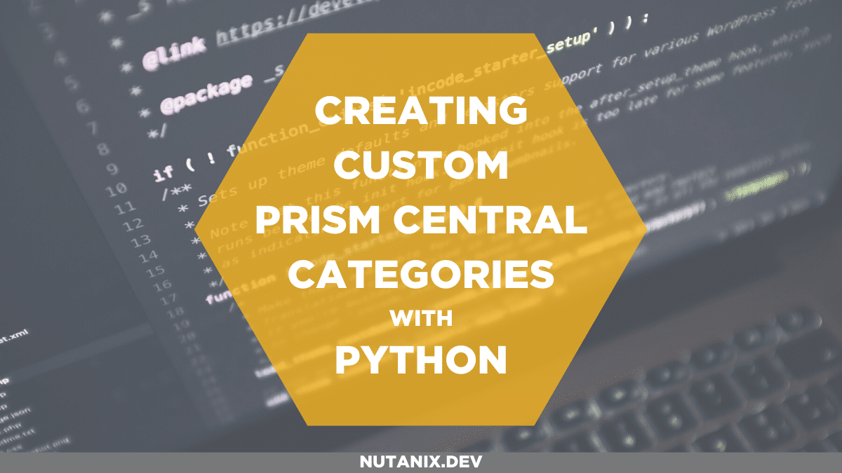 Creating custom categories with Python