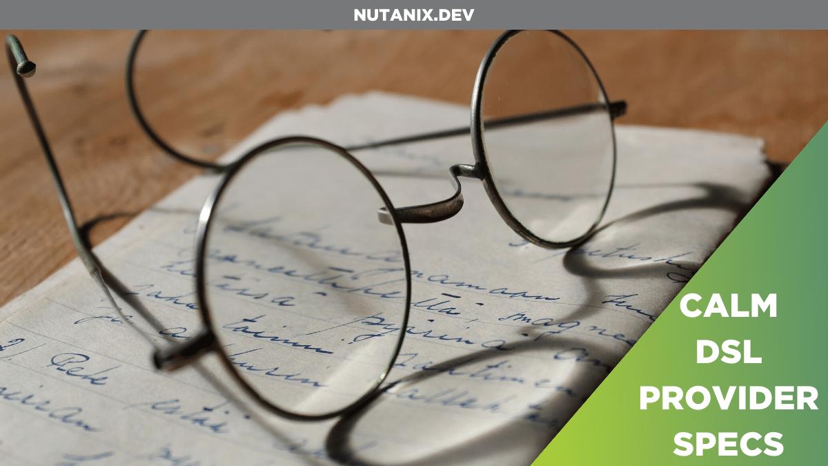 Nutanix Calm DSL - Generating VM Specs